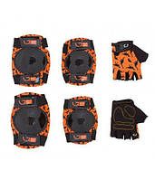 Захист для дітей Green Cycle Dino Orange коліна, локті, рукавиці, (помаранч)