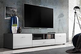 Тумба під телевізор білий/графіт з ДСП RTV Clif Furnival