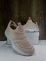 Летние женские кроссовки сетка, персиковые sopra, фото 1