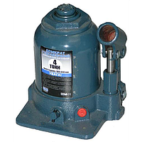 """Домкрат гидравлический бутылочного типа  4т (ДБ-40002Ц) 390mm 2х цилиндров. """"Vitol"""""""