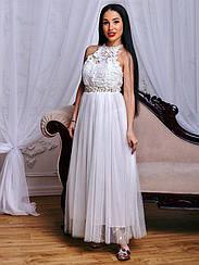 Длинное платье белое