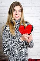 Плюшевое сердце 20 см