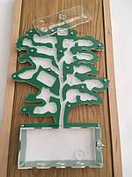Акриловая муравьиная ферма зеленого цвета в форме дерева, формикарий, муравейник