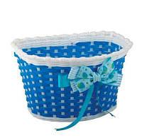 Кошик дитячий Green Cycle GCB-02-6 плетений пластик, синій