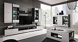 Стіл журнальний кофейний у вітальню білий/графіт ДСП Clif Furnival, фото 4