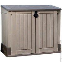Садовый Шкаф Keter Store-It-Out Midi 845л, бежевый/коричневый (17197662580)