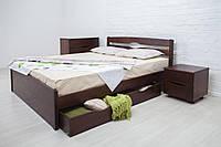 Кровать двуспальная Олимп Лика LUX с ящиками (160*190)