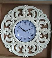 """Часы настенные """"Поместье"""", слоновая кость, 46 см."""