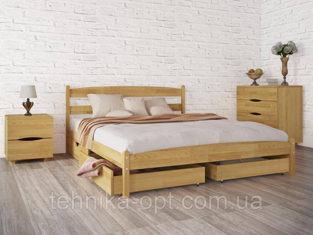 Кровать полуторная Олимп Лика без изножья с ящиками (140*200)