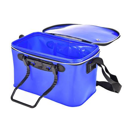 Сумка ведро для рыбалки водонепроницаемая  с карманом 50х30х28см SF23836, фото 2