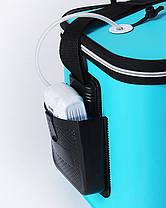 Сумка ведро для рыбалки водонепроницаемая  с карманом 50х30х28см SF23836, фото 3