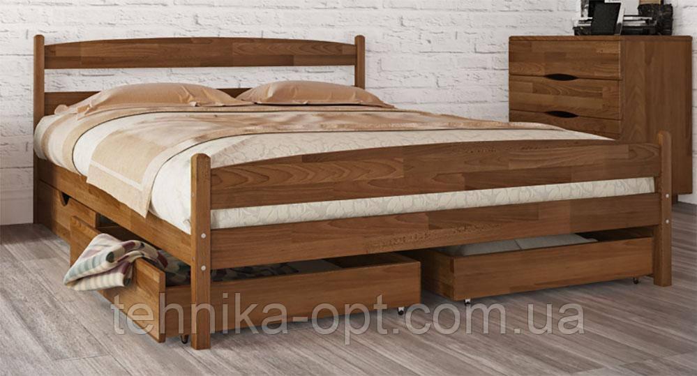 Кровать двуспальная Олимп Лика с ящиками (200*200)