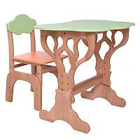 """Детский столик и стульчик """"Дубок"""" растишка (оранжевый), фото 1"""