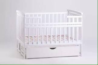 Детская кроватка-трансформер маятник белая