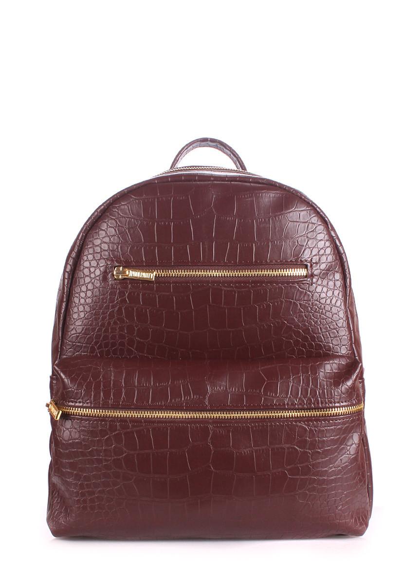 Рюкзак женский POOLPARTY Mini коричневый