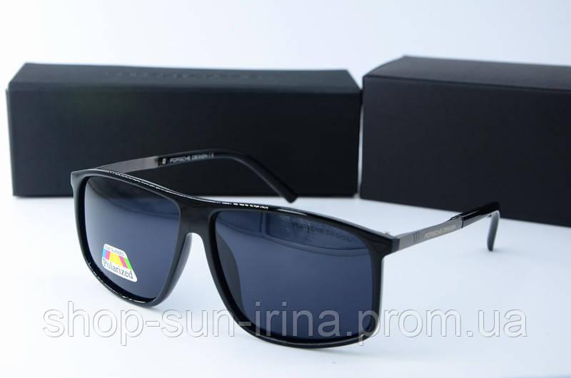 Солнцезащитные очки Porsche Design прямоугольные черные глянцевые ... f112dd146d3