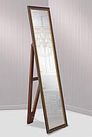 Зеркало напольное в пластиковой раме для комнаты, ванной, прихожей, габариты 45х169 см