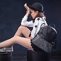 Рюкзак женский кожаный POOLPARTY Mini черный, фото 1