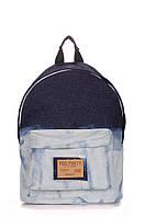 Рюкзак джинсовый POOLPARTY голубой, фото 1