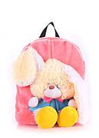 Детский рюкзак POOLPARTY с зайцем розовый