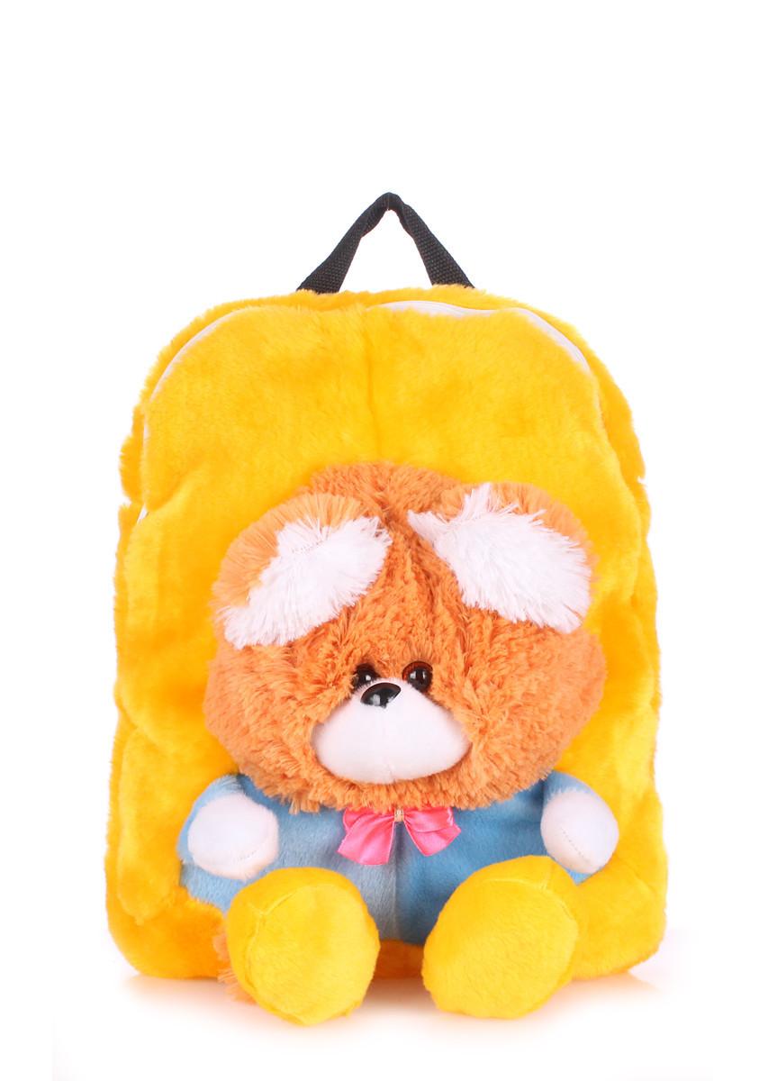 Детский рюкзак POOLPARTY с медведем желтый