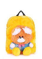 Детский рюкзак POOLPARTY с медведем желтый, фото 1
