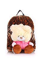 Детский рюкзак POOLPARTY с медведем коричневый, фото 1