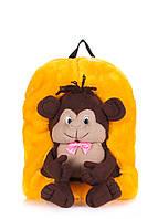 Детский рюкзак POOLPARTY с обезьяной желтый