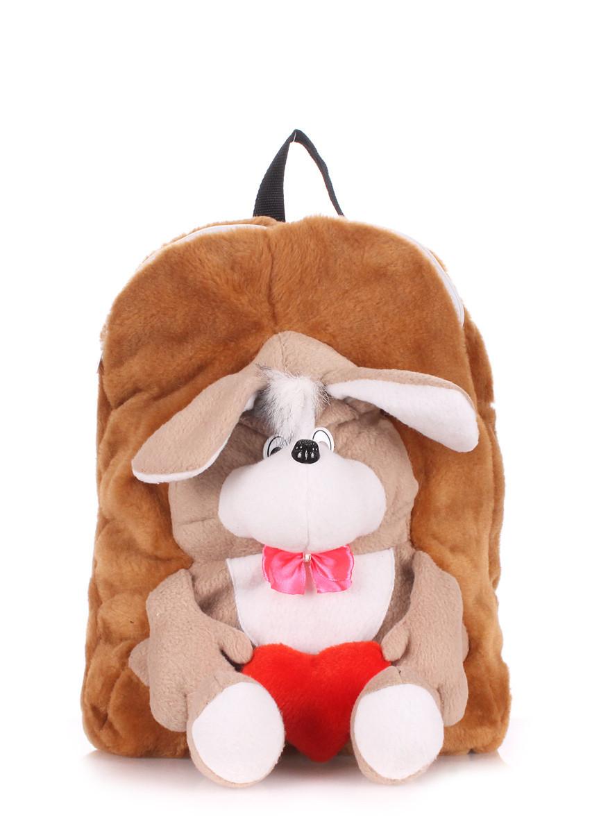Детский рюкзак POOLPARTY с собакой коричневый