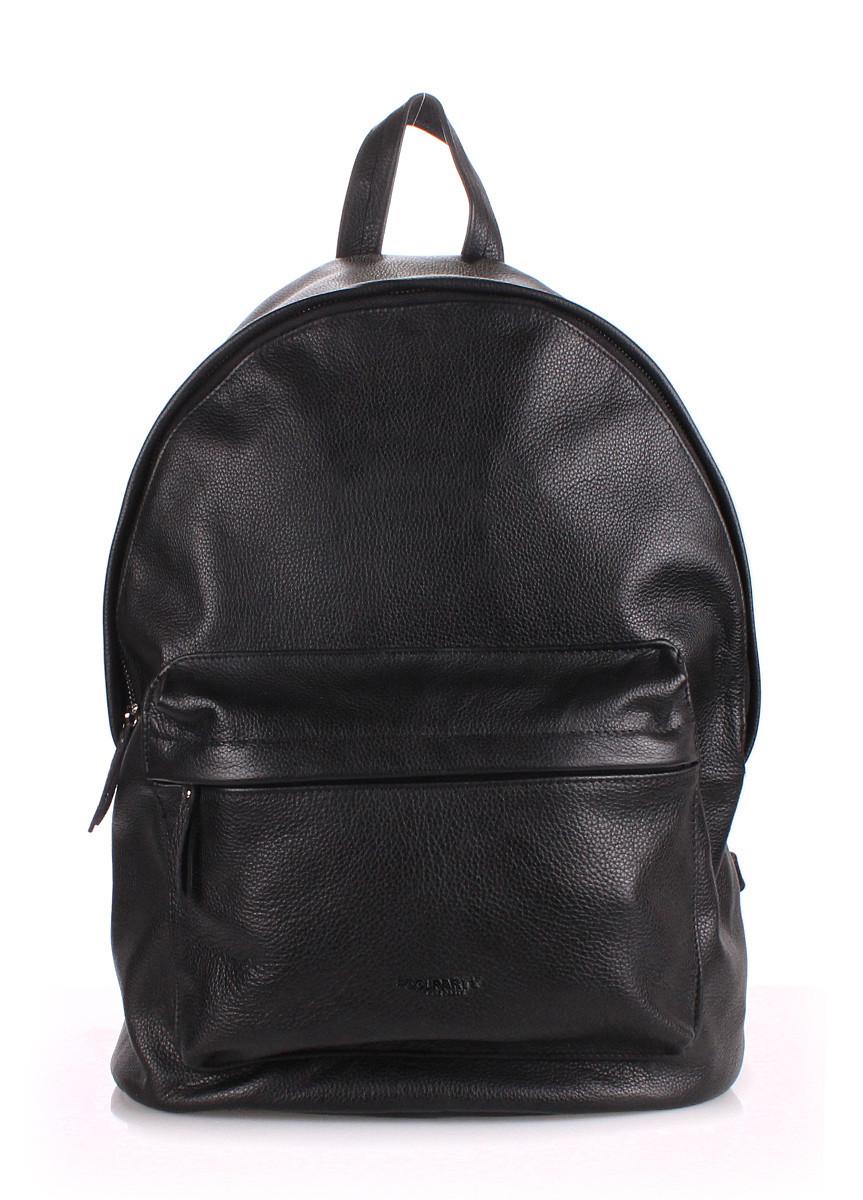 Кожаный рюкзак POOLPARTY черный