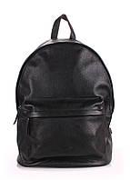 Кожаный рюкзак POOLPARTY черный, фото 1