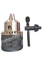 Патрон для дрели с ключом, резьба М12х1/2 ,диаметр 3-16 мм