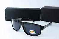 Солнцезащитные очки Porsche Design прямоугольные черные глянцевые, фото 1