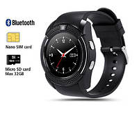Смарт - часы SMART WATCH V8 black, MicroSIM Bluetooth microSD, фото 1