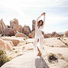 Пляжное платье гипюр длинное белое 146-06-1, фото 2