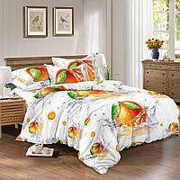 Двуспальный комплект постельного белья евро 200*220 сатин (9733) TM КРИСПОЛ Украина