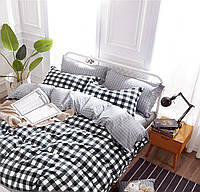 Двуспальный комплект постельного белья евро 200*220 сатин (9739) TM КРИСПОЛ Украина