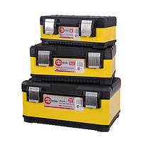 Комплект ящиков для инструментов с металлическими замками 3 шт INTERTOOL BX-2003 (BX-2003)