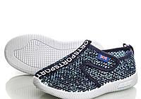 Летние кроссовки-кеды текстильные для мальчиков в сеточку 31,32,33,34,35,36р.