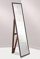 Зеркало напольное в пластиковой раме для комнаты, ванной, прихожей, габариты 45х169 см коричневый