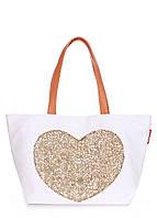 Коттоновая сумка POOLPARTY Love Tote, фото 1