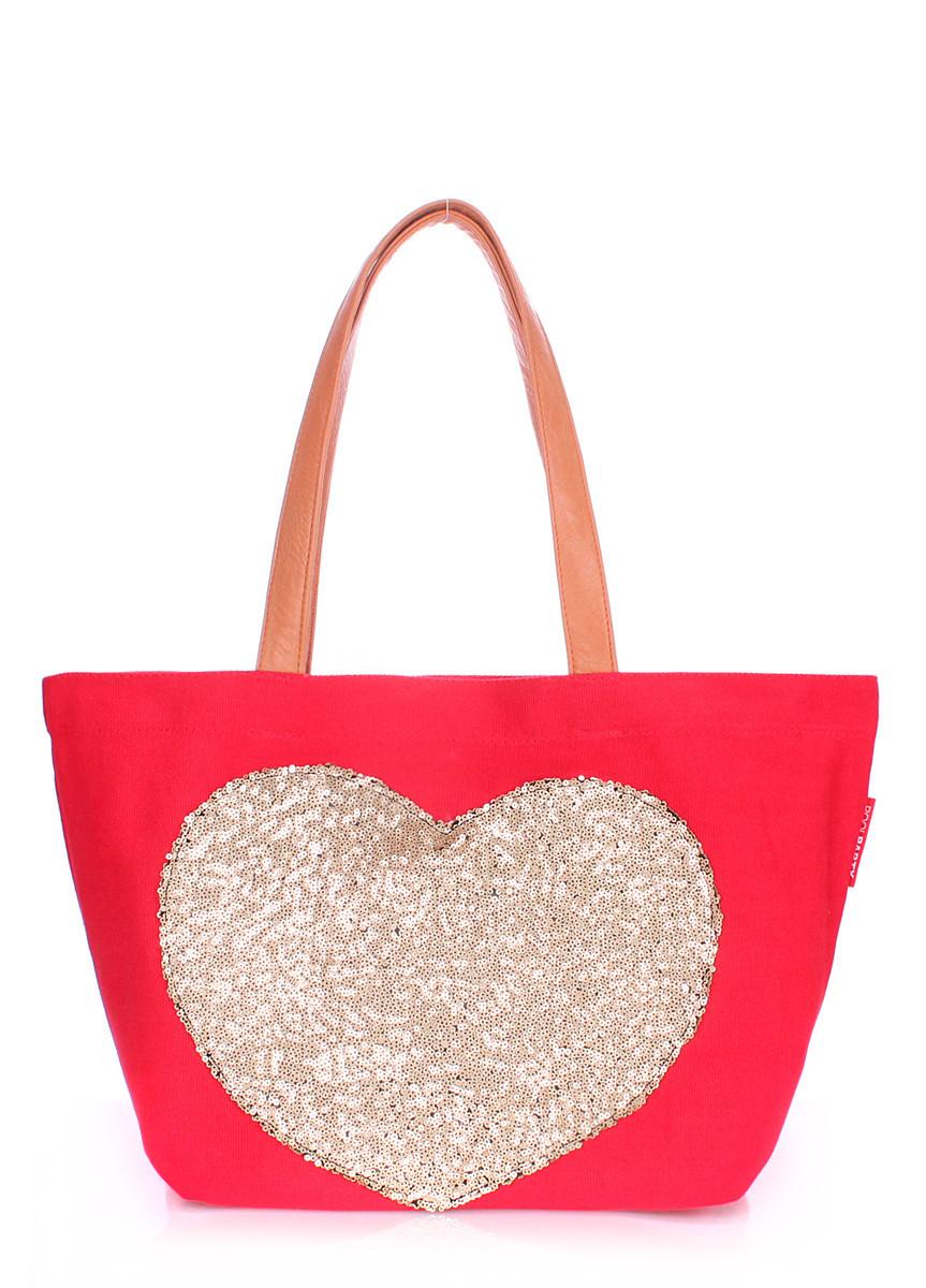 Коттоновая сумка POOLPARTY Lovetote