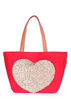 Коттоновая сумка POOLPARTY Lovetote, фото 1