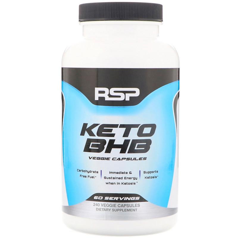 RSP Nutrition, Keto BHB, 240 Veggie Capsules