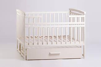 Детская кроватка-трансформер маятник Слоновая кость