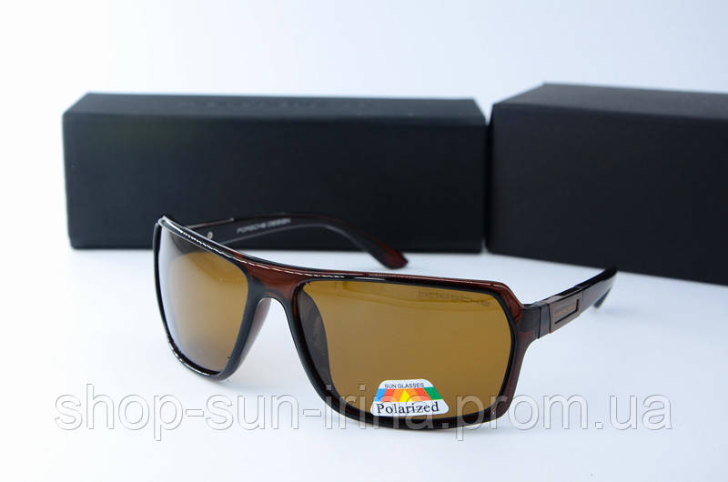 Солнцезащитные очки Porsche Design прямоугольные коричневые  продажа ... 98c75feb108