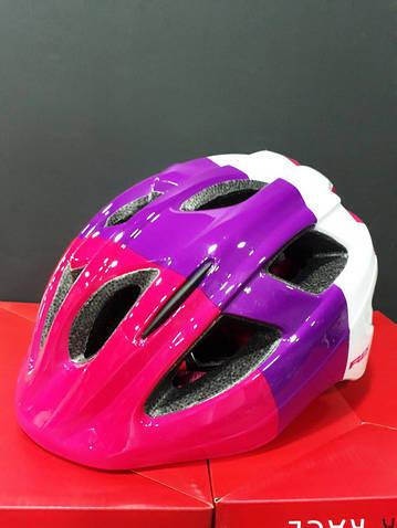 Велошолом дитячий BONDY R2 M 56-58 рожевий/фіолет/білий ATH07J/M