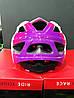 Велошолом дитячий BONDY R2 M 56-58 рожевий/фіолет/білий ATH07J/M, фото 3
