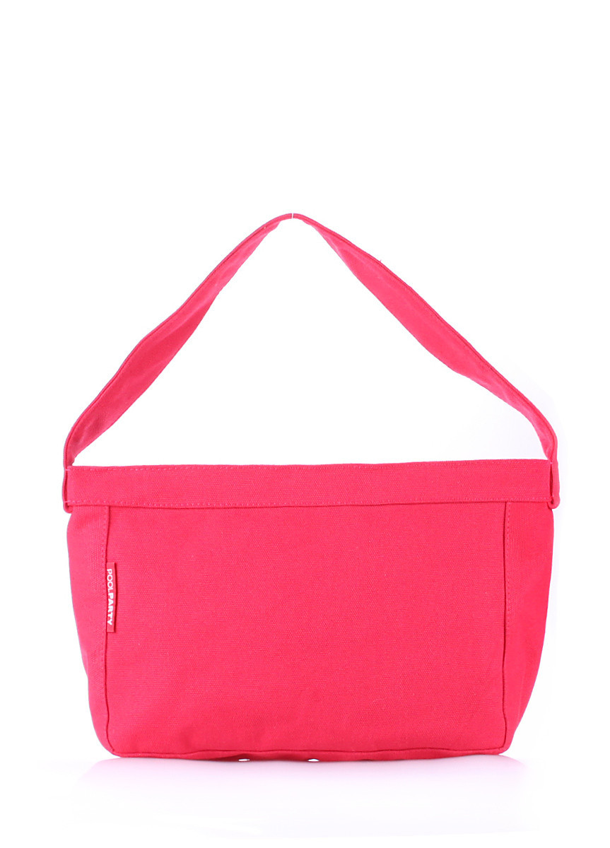 Коттоновая сумка POOLPARTY красная
