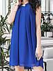 Платье коктейльное Мелитта синее, фото 2